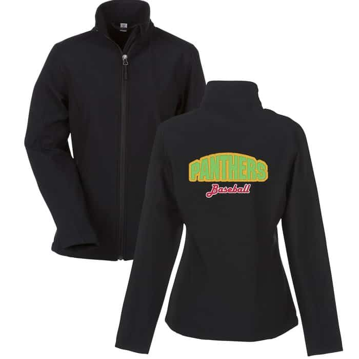 Crossland Soft Shell Jacket Mens Back Embroidered - Corporate logo jackets