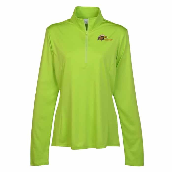 Defender Performance 1/4-Zip Pullover – Ladies | Company apparel from 4imprint.