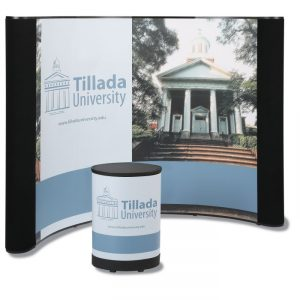 Deluxe Curved Floor Display - 10' - Mural Center - Go Eco-friendly at your next green event