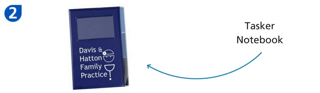 Blue tasker notebook