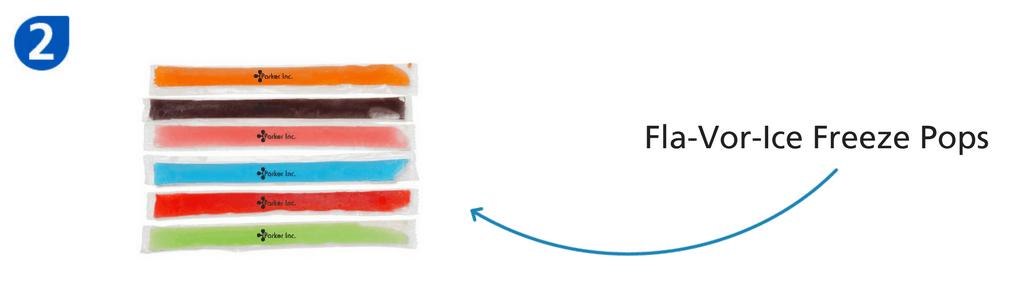 Number two: fla-vor-ice freeze pops