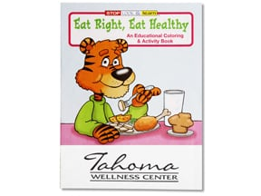 Eat Right Eat Healthy Coloring Book | Promotional Products from 4imprint