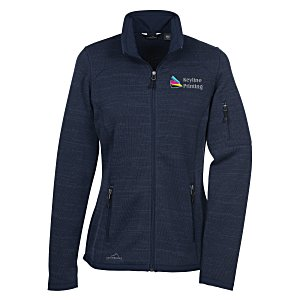 Eddie Bauer Heathered Sweater Fleece Jacket - Ladies' | 4imprint Eddie Bauer corporate apparel.