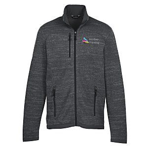 Eddie Bauer Heathered Sweater Fleece Jacket - Men's |4imprint Eddie Bauer custom jackets