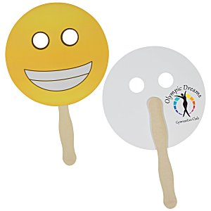 Emoji Hand Fan – Grin | 4imprint summer giveaways.
