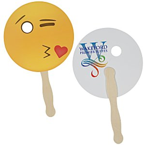 Emoji Hand Fan – Kiss | Summer giveaway ideas from 4imprint.