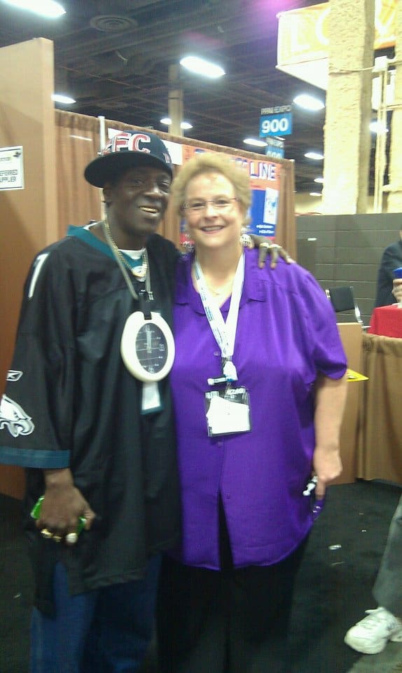 Picture of Gail and Flavor Flav