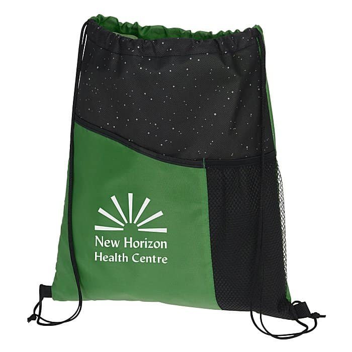 GalaxyReflective Print Sportpack l 4imprint promotional drawstring bags.
