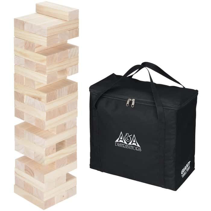 Giant Tumble Tower Game   Fun promotional games from 4imprint.