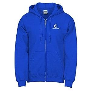 Royal Blue Full Zip Hooded Sweatshirt