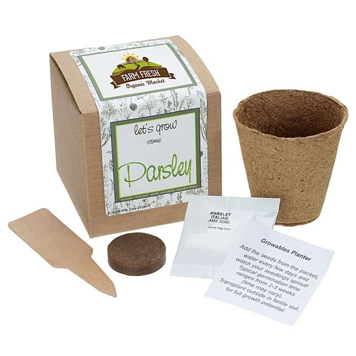 Growable Planter Gift Kit Herbs | 4imprint farmers market promotional items