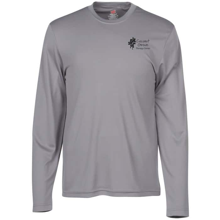 Hanes® 4 oz. Cool Dri Long Sleeve T-Shirt | Summer swag from 4imprint