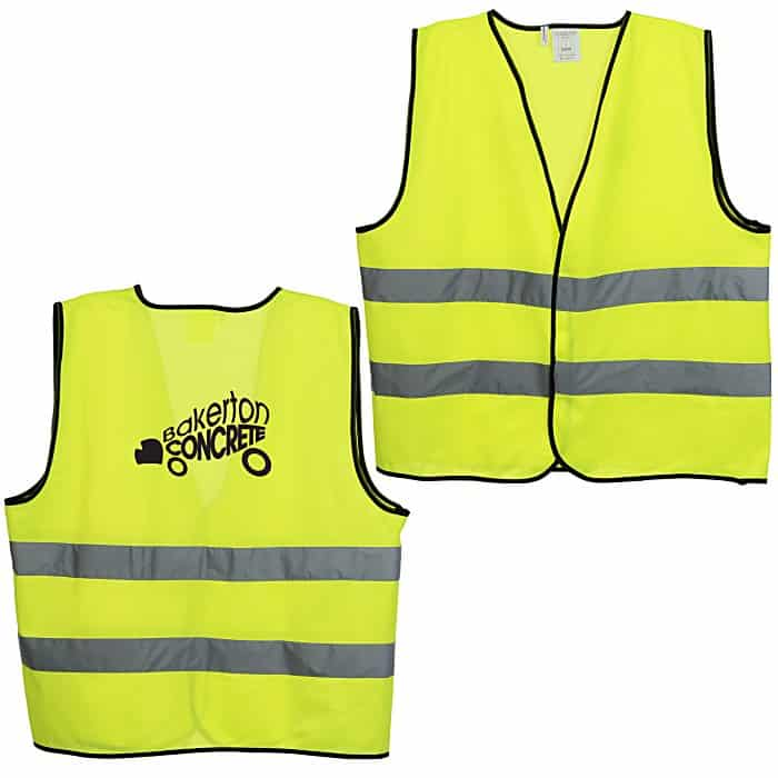 Yellow High Visibility Reflective Safety Vests.