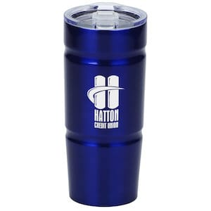 Indent Stainless Vacuum Travel Tumbler - Custom double wall tumbler