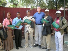 Missionaries in Ethiopia receive a Christmas gift from Indigenous Outreach International.