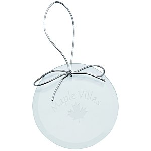 Jade Crystal Ornament – Round | 4imprint promotional holiday ornaments.