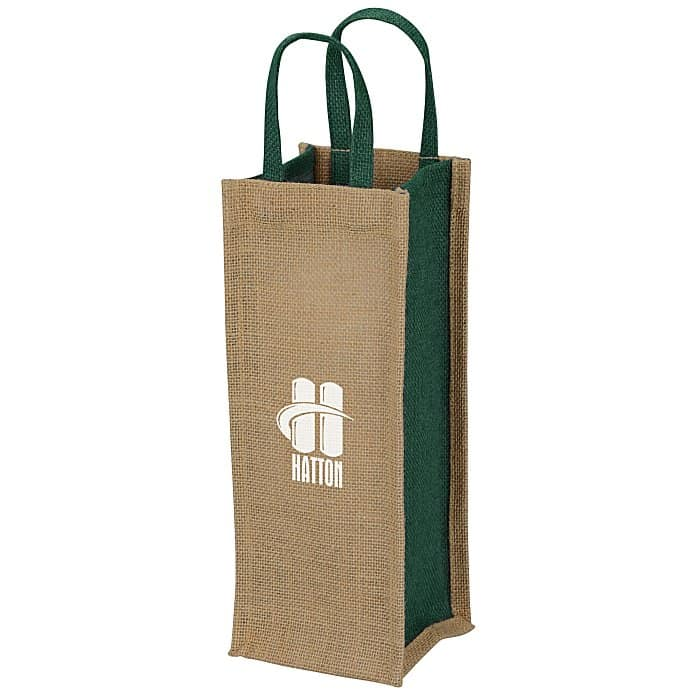 Jute Single Bottle Wine Tote | Promotional wine accessories from 4imprint.
