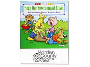 Keep Our Environment Clean Coloring Book | Promtional Products from 4imprint
