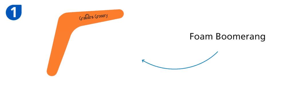 Number one: orange foam boomerang