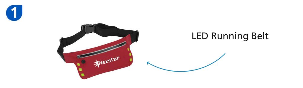 Number one: red LED running belt