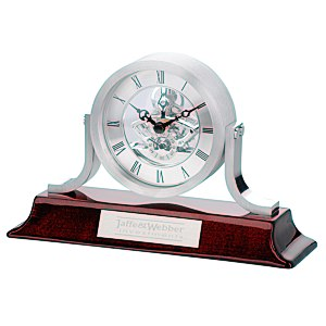 Modern Mantel Skeleton Clock - custom awards from 4imprint promotional products