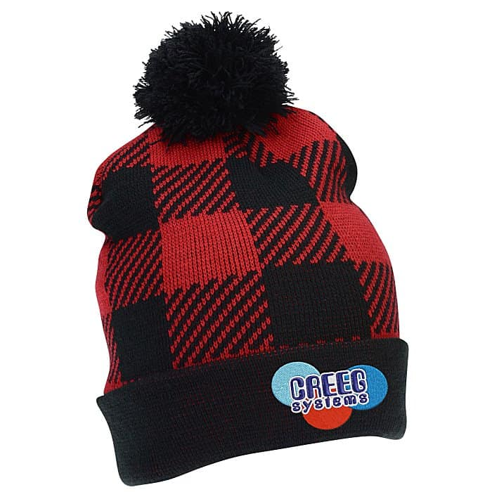 Northwoods Knit Pom-Pom Beanie – a great custom winter hat with pom. b0e356100ad