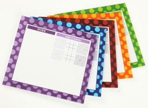 An Array of Take a Break Notepad/Mouse Pads