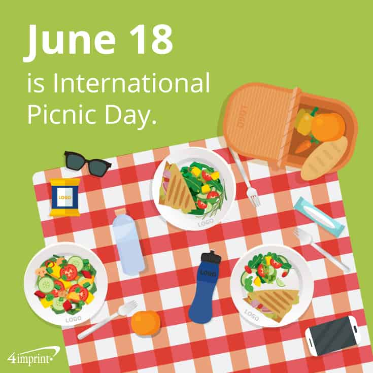 June 18 is International Picnic Day. Celebrate with these company picnic giveaway ideas.