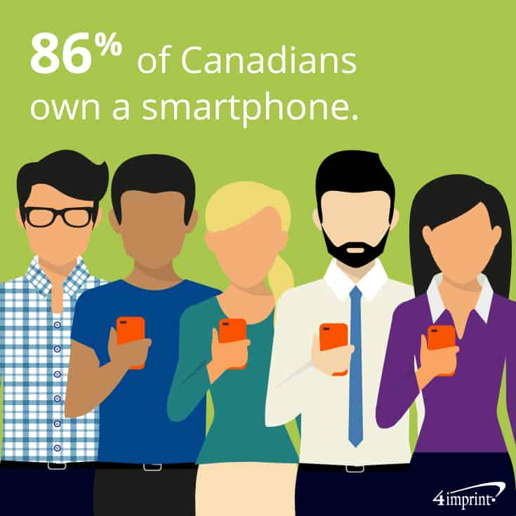 86% of Canadians own a smartphone. | The best tech swag from 4imprint.