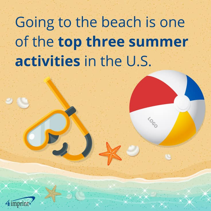 Going to the beach is one of the top three summer activities in the U.S. | 4imprint beach promotional items