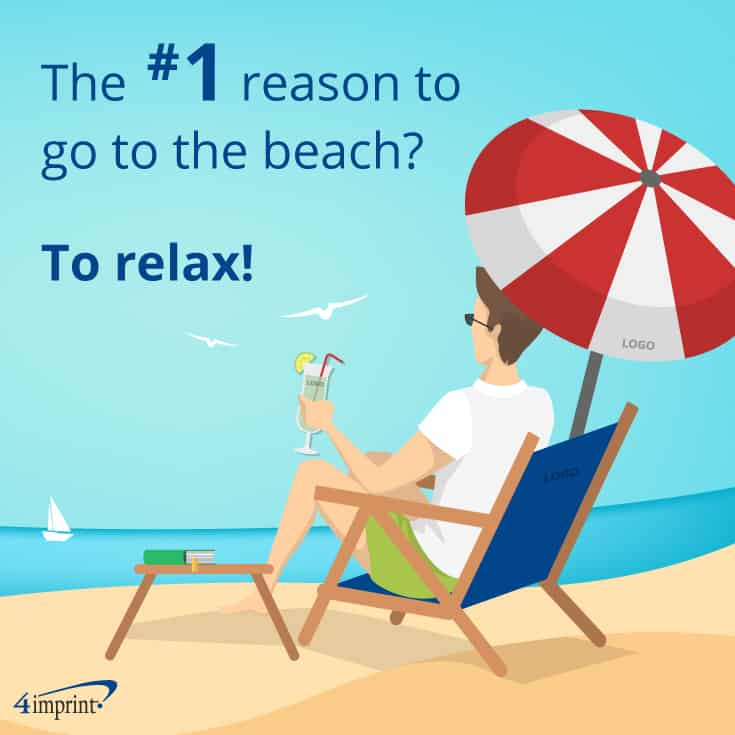 The #1 reason to go to the beach? To relax! | Beach swag from 4imprint