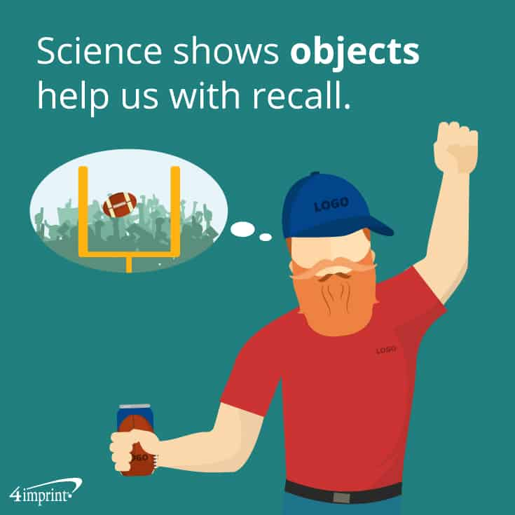Science shows objects help us with recall. | 4imprint sports promotional items