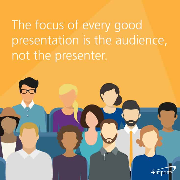 The focus of every good presentation is the audience, not the presenter. Use training giveaways to engage your audience.