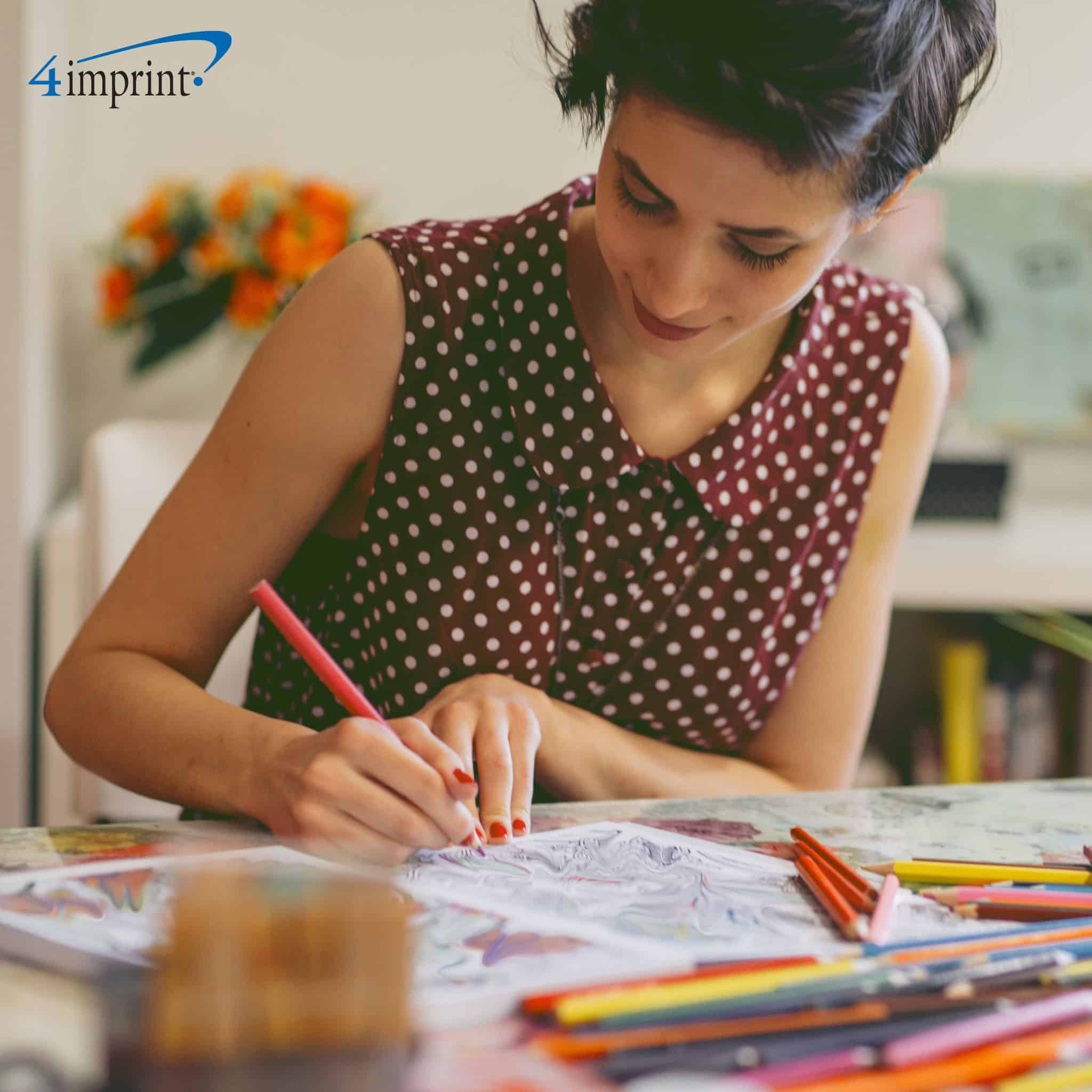 Fight stress with adult coloring books - 4imprint promotional products