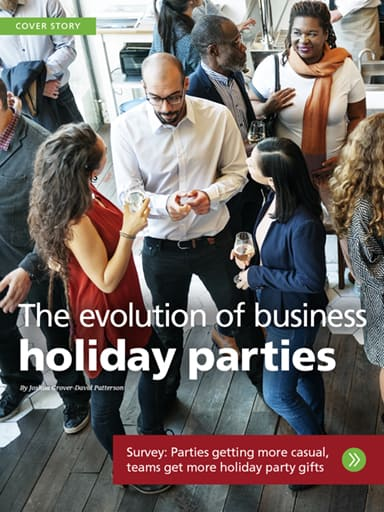 Cover Story Image: The evolution of business holiday parties - 4imprint survey shows parties getting more casual, teams getting more holiday party gifts