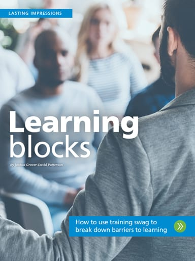Lasting Impressions image: Learning blocks - How to use training swag to break down barriers to learning