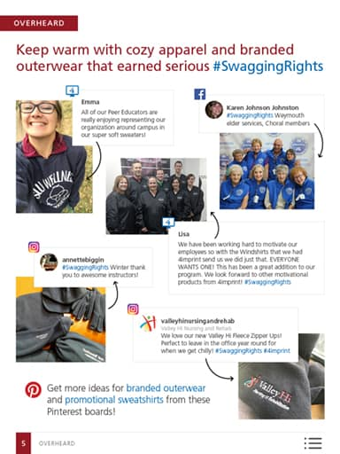 Overheard story image: Keep warm with cozy apparel and branded outerwear that earned serious #SwaggingRights