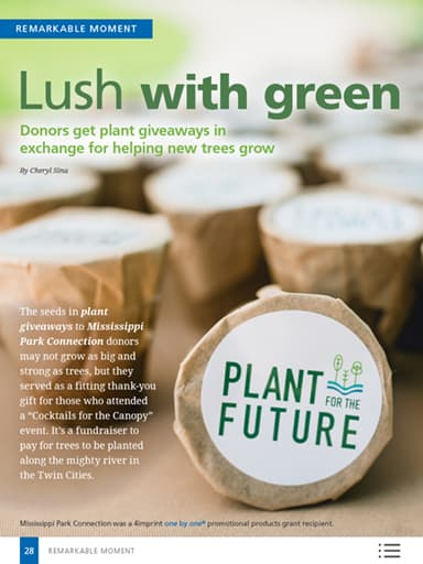 Remarkable Moment image: Lush with green - Donors get plan giveaways in exchange for helping new trees grow