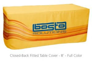 Closed-Back Fitted Table Cover 8'