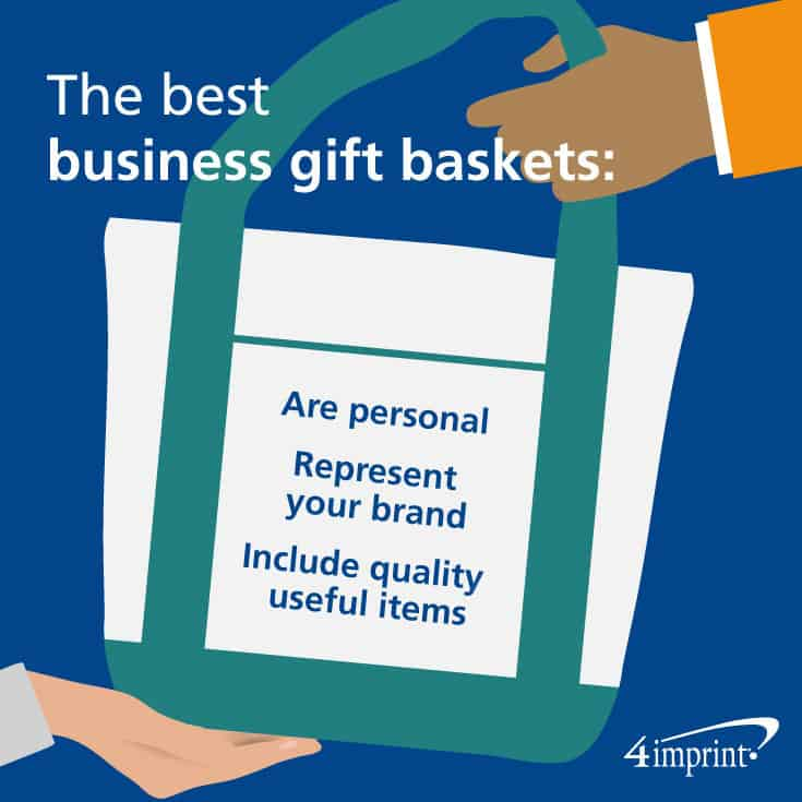 The best business gift baskets are personal, represent your brand and include quality useful items.