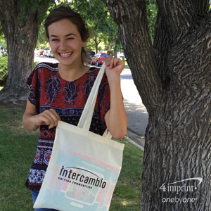 Intercambio purchased branded tote bags that it provides to the volunteer teachers