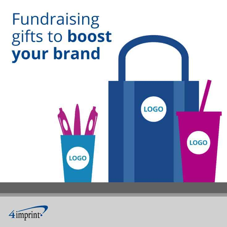 Branded tote bag, tumbler and pen cup.
