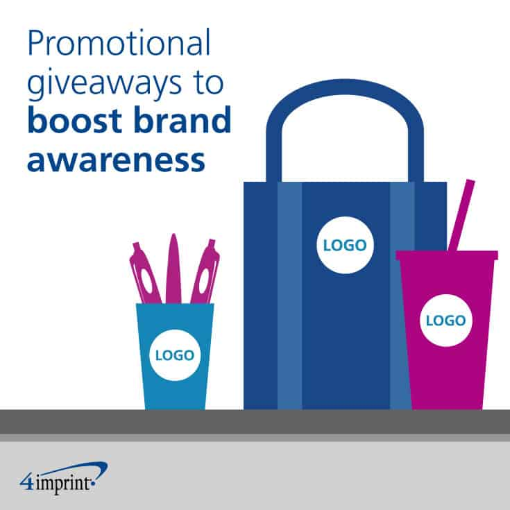 Boost awareness of your organization's mission and brand with promotional giveaways.