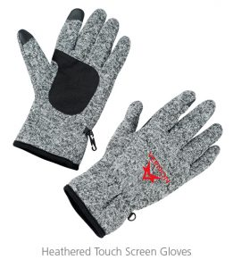 Heathered Touch Screen Gloves - Ideas for Winter Giveaways