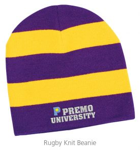 Rugby Knit Beanie - Ideas for Winter Giveaways