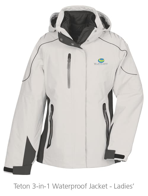 Teton 3-in-1 Waterproof Jacket - Ladies' - Ideas for Winter Giveaways