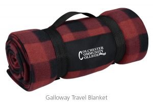 Galloway Travel Blanket - Ideas for Cold Weather Promotional Items