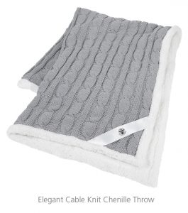 Elegant Cable Knit Chenille Throw - Ideas for Winter Giveaways