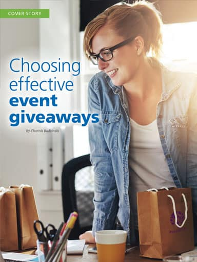 Cover Story Thumbnail: Choosing effective event giveaways
