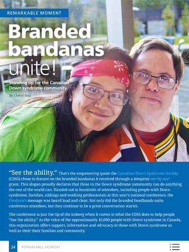 amplify promotional products magazine - Remarkable Moments - Branded bandanas unite!